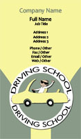 Driving School Illustration Business Card Template